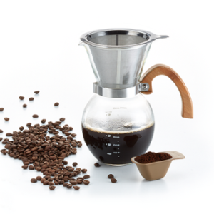 Filter coffee brewer with filter