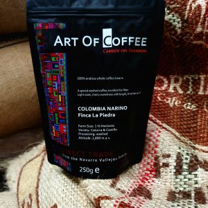 Colombia Narino coffee on jutebags